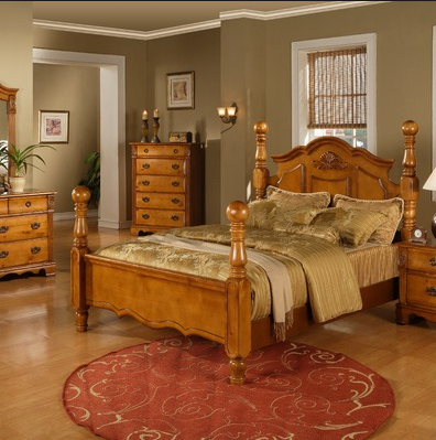 International Bryant Bedroom Set (Pine Finish)